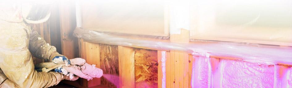 Polyurethane spray foam products burlington hamilton for Foundation blanket wrap insulation